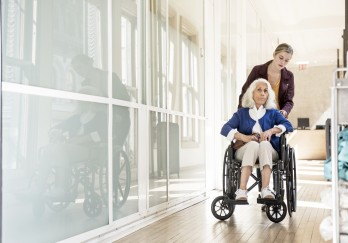 Patient in wheelchair
