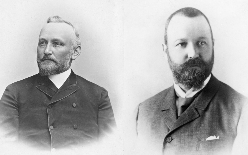 Early photographs of Dr. Alfred Kern (left) and Edouard Sandoz-image